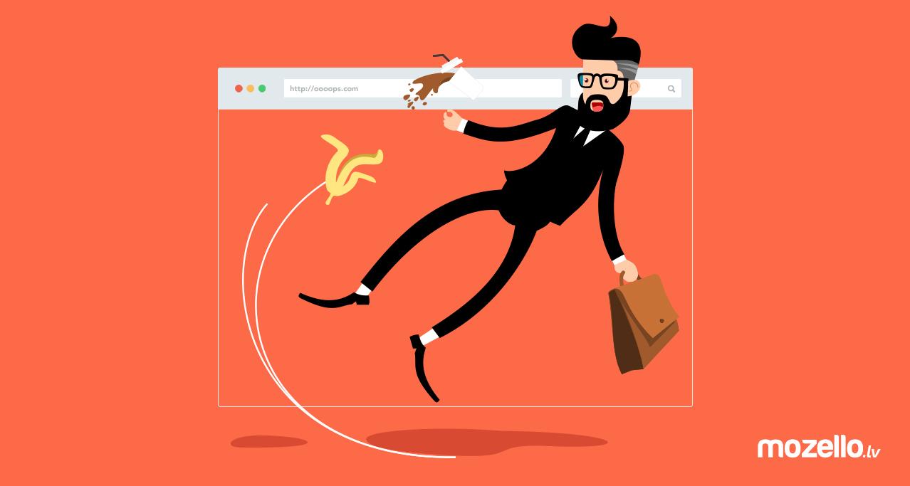 Vai Tavas mājas lapas galvenajā izvēlnē ir pieļauta šī kļūda?