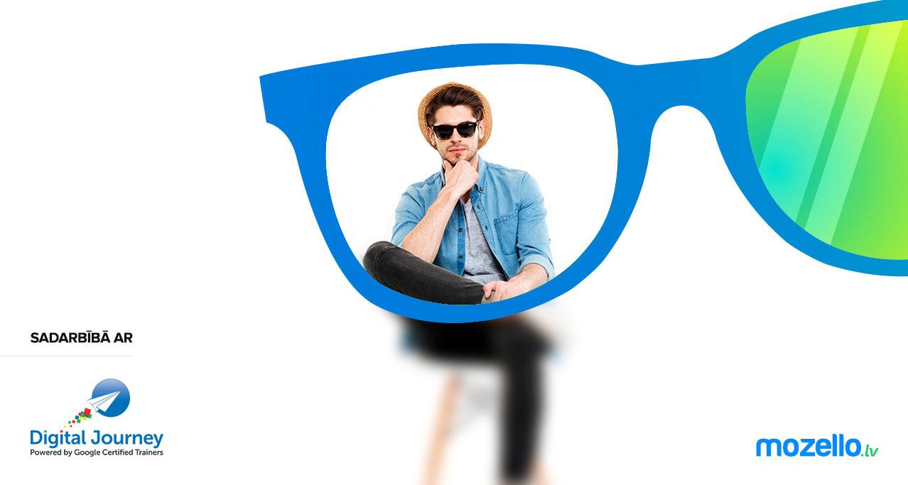 Uzliec sava klienta brilles un apskati savu mājas lapu caur tām