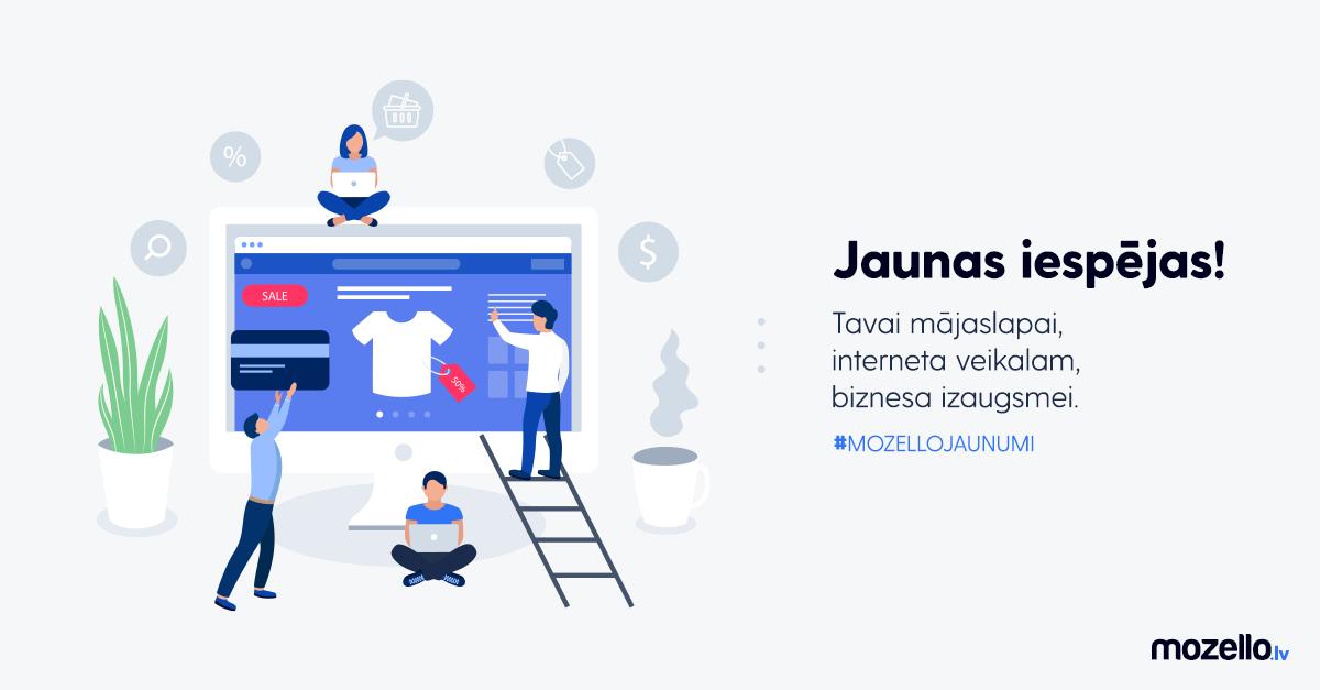 Jaunas Mozello iespējas, kas ļauj uzlabot mājaslapas vai e-veikala funkcionalitāti un izskatu