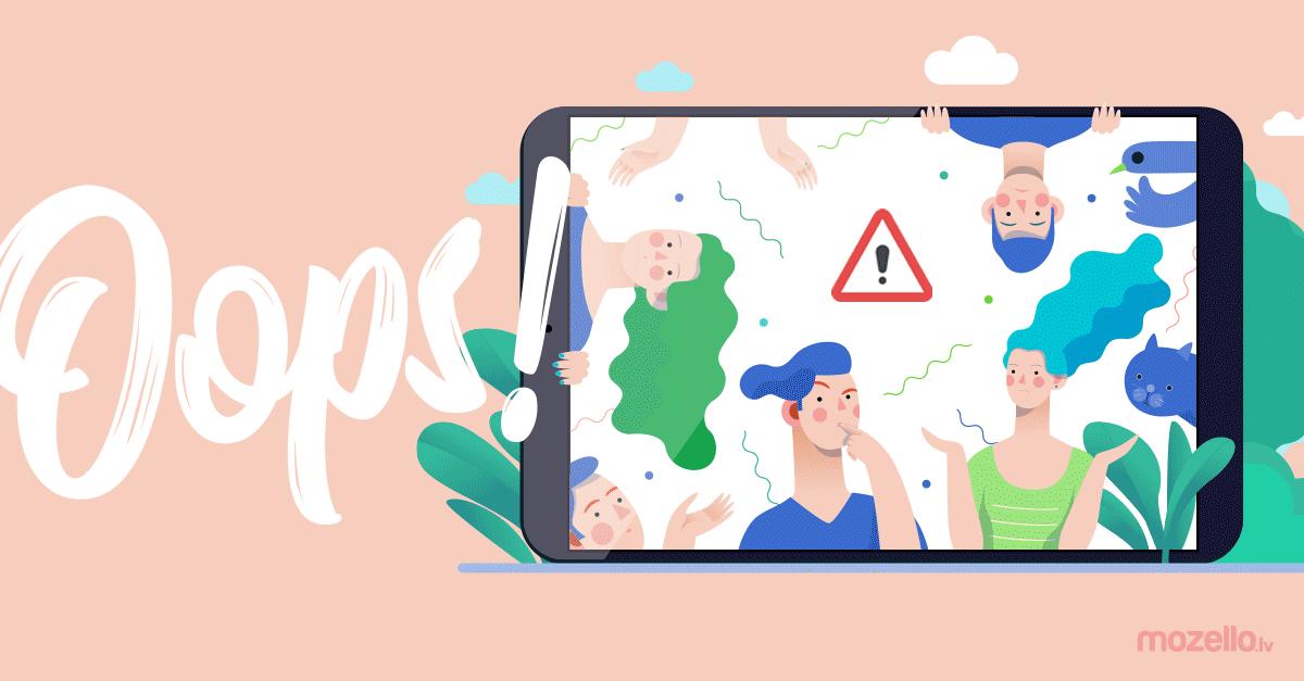 5 kļūdas, kas liek Tavai mājaslapai izskatīties neprofesionāli