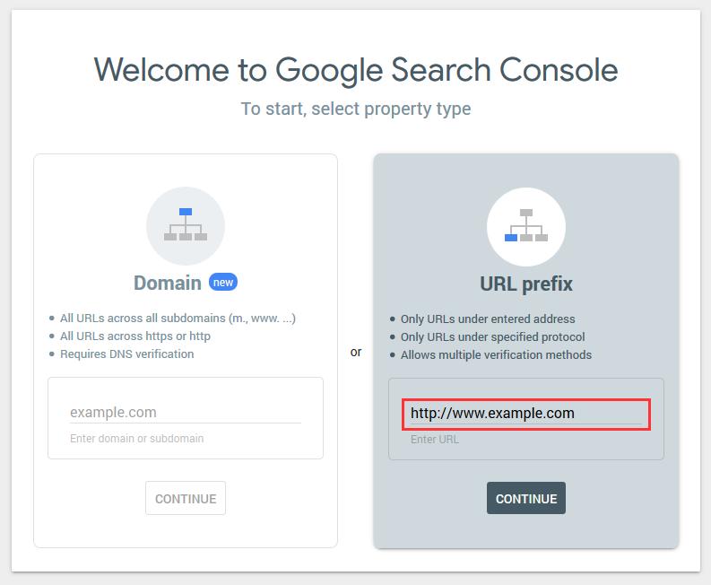 Seleccionar prefijo de URL