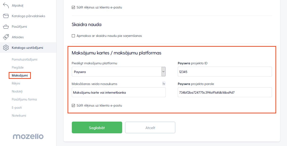 Maksājumu platformas izvēle