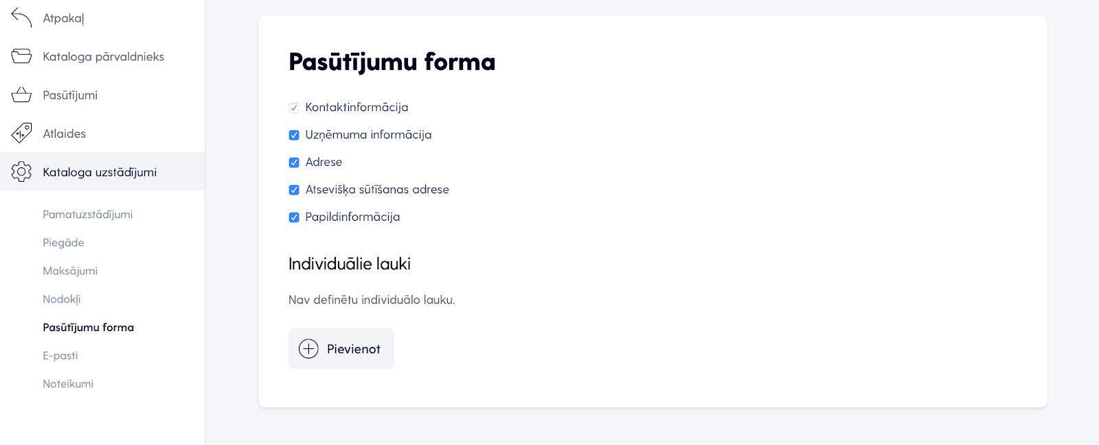 Pasūtījuma forma
